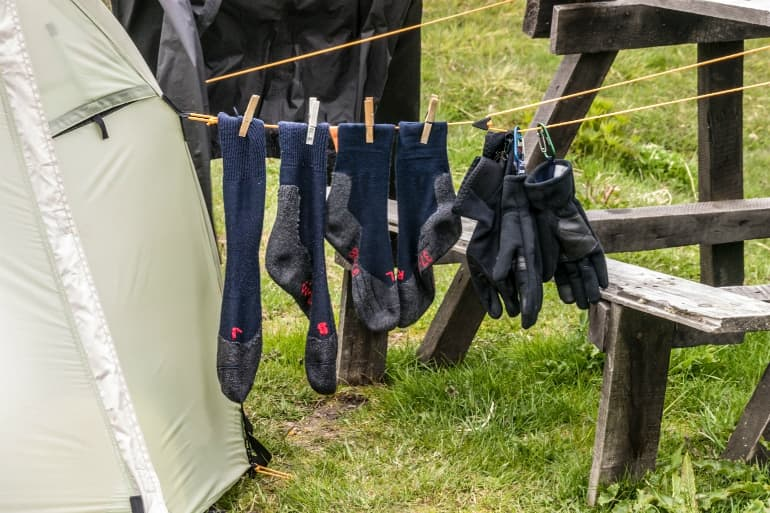 Socks for the Outdoors - Drying