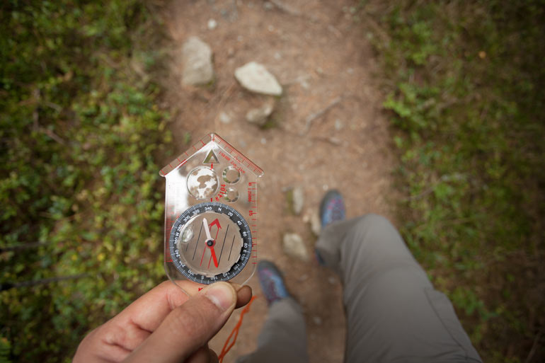 Get Started Geocaching - compass